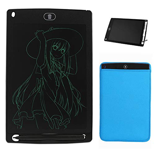 Greatlong 8.5 Inch LCD Writing Tablet Doodle Pads for Kids, Electronic Writing Drawing Board for Adults,Digital Handwriting Notes Use for School Home and Office(Black),Free Blue Neoprene Sleeve Bag