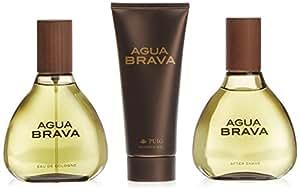 Agua Brava - Estuche con Agua de Colonia, Gel de Ducha y Loción despues de Afeitado