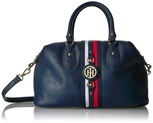 Tommy Hilfiger Bags Handbags - Tommy Hilfiger Handbag Jaden Satchel, Navy Polyvinyl Chloride