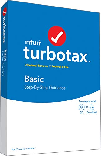 Intuit TurboTax Basic 2019 Tax Software [PC/Mac Disc] [Old Version]