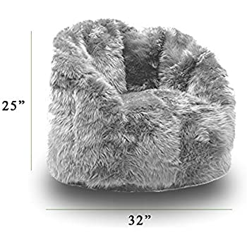 Grey Fluffy Bean Bag Filled with Ultimax Beans Which Conform to Your Body 37d7b04982bb7