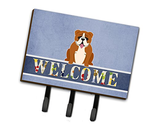 (Caroline's Treasures English Bulldog Red White Welcome Wall Hook,)
