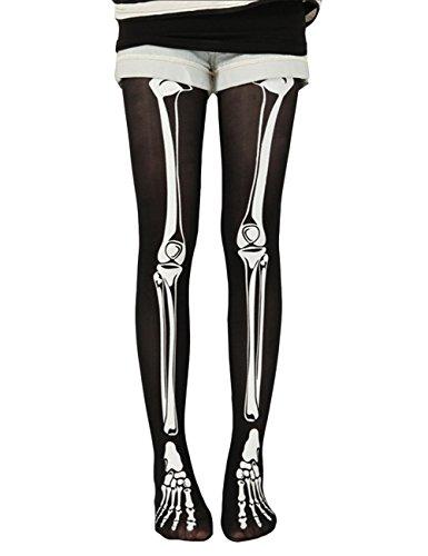 THEE Socks Skeleton Stockings Halloween Costume -