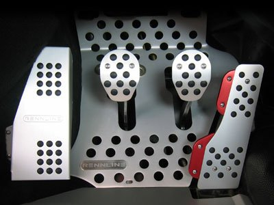 Rennline 1965-1998 911/912/930Targa+Cab 964/993 All Aluminum pedal set-w/dead pedal 4 piece Black