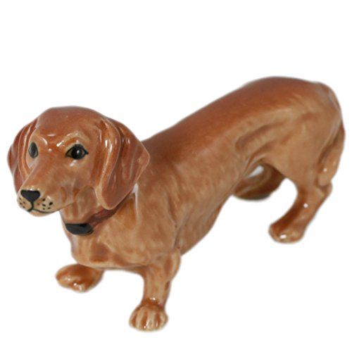 Puppy Miniature Animal Figurine Pottery Ceramic Statue (2