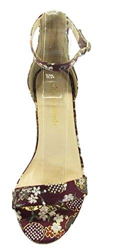 City Classified Womens Single Band Buckle Ankle Strap Block Heel Sandal MVE Shoes Plu Ginza TmdLquLA