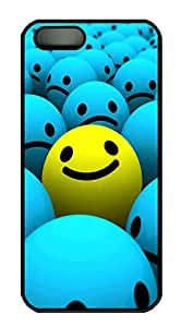 iPhone 5 5S Case Beautiful 3D Smiley PC Custom iPhone 5 5S Case Cover Black