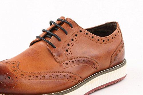 Dress Brown Round Oxford TDA Mesh Leather Toe JD1410A Men's 8WwFqTY