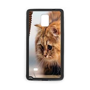 Case for Samsung Galaxy Note 4, Fluffy Kitten Case for Samsung Galaxy Note 4, Evekiss Black