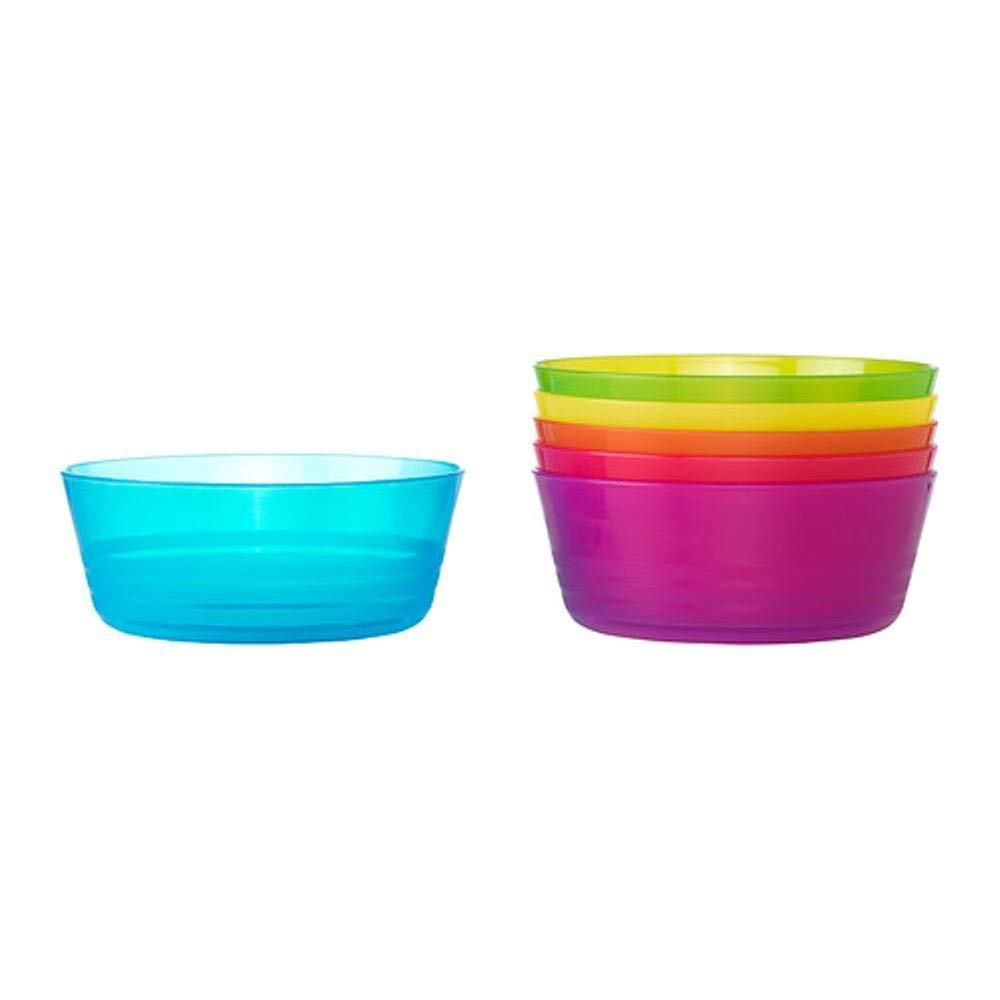 2XGood Quality Standard Plastic Assorted Colors Bowl for Party Picnic BBQ Ikea