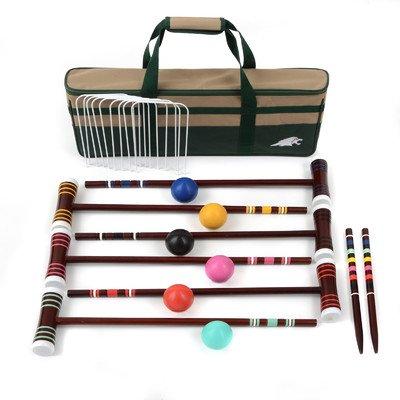 Lion Sports 6 Player Family Croquet Set, (6 Player Croquet Set)