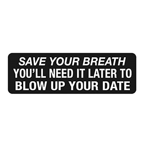 Motorcycle Helmet Stickers - Save Your Breath, Novelty Artwork Decals, 4