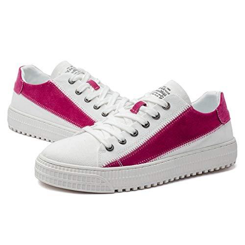 Transpirables Tendencia 44 Wangkuanhome Verano Size color Los Zapatos Ocasionales De Salvajes Hombres Pink Pink Lona ttHXwp