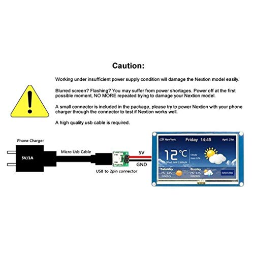 Baosity 3.2 Inch HMI LCD Display Module TFT Touch Panel for NX4024K032 Enhanced, Support GPIO by Baosity (Image #8)