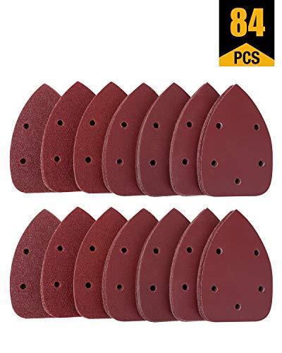 Mouse Sandpaper 84 PCS Mouse Detail Sander Sandpaper Sanding Paper 140mm90mm Hook and Loop Mouse Sandpaper 40/60/80/120…