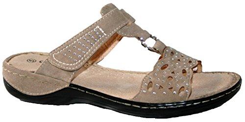 Damen Sommer Sandale von Cushion Walk. TR-lässt. beige mule