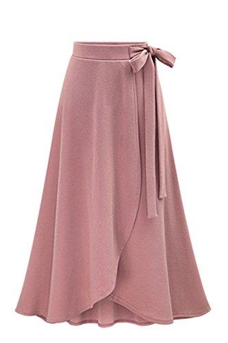 Se Ligne Les Une Maxi Rose Jupes Tricote Jupe Cordon Plisse fI5qH51nwx