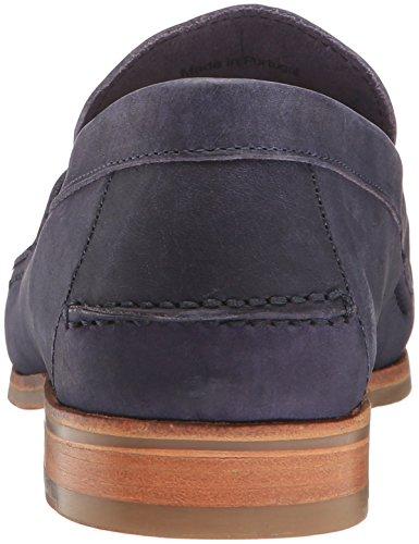 Sebago Heren Conrad Penny Loafer Navy Crackled Leather