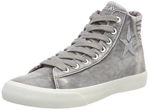 Replay Sneaker Edna Damen Grey Hohe Grau FrRxqOF67w