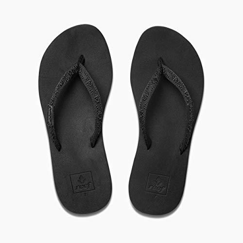 - Reef Women's Ginger Sandal,Black/Black,8 M US