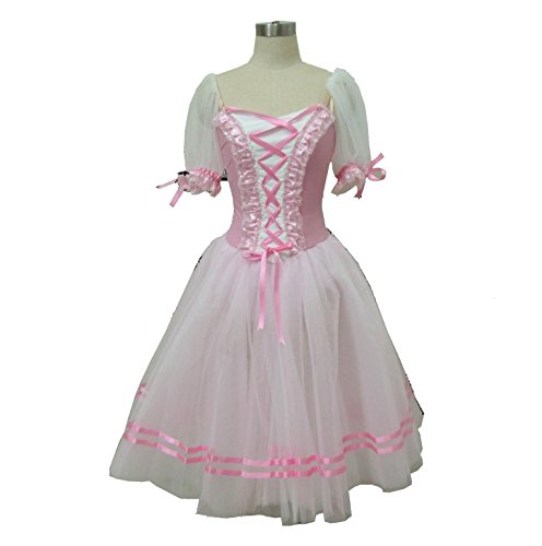 Professional ballet Giselle Peasant tutu costume in burgandy, pink and blue (small, pink) - Ballet Costumes Giselle