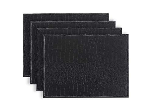 - Fudostar Placemats set of 4 Firm Faux Leather PU, 16