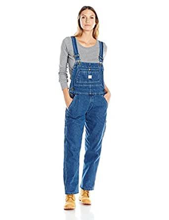 Key Apparel Women's Denim Bib Overall, Indigo Blue, 4/Short