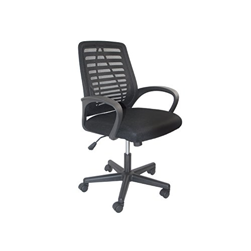 ALEKO ALCM815BL Black Ergonomic Office Chair, High Back Mesh Chair with Armrest