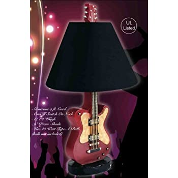 Hand painted ceramic guitar table lamp guitar decor amazon hand painted ceramic guitar table lamp aloadofball Images