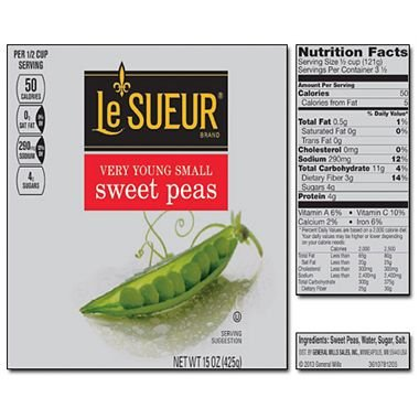 Le Sueur Very Young Small Sweet Peas 15 oz. can, 8 ct. (pack of 3) A1