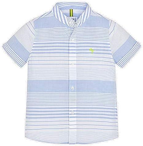 Mayoral Camisa Manga Corta Cuello Mao Rayas niño Modelo 3162: Amazon.es: Ropa y accesorios