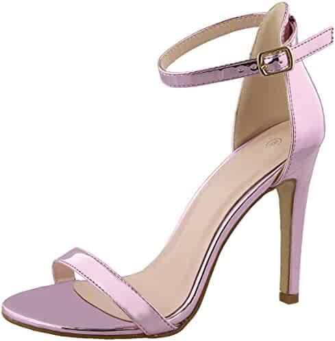 a1bac4d5fff0 Cambridge Select Women s Open Toe Ankle Strappy Single Band Buckled  Stiletto High Heel Sandal