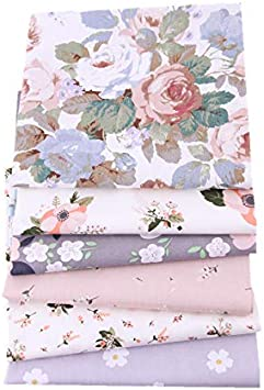 50//100Pcs Square Floral Cotton Fabric Patchwork Quilting Cloth DIY Sewing Craft