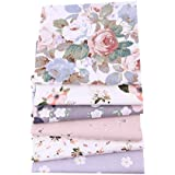 6pcs 100% Cotton Craft Fabric Bundle Patchwork, 50 x 40cm Quilting Sewing Patchwork Beautiful Pattern Cloths for DIY…