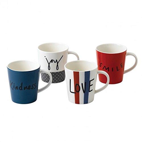 Ed Ellen Degeneres Joy Mug Mixed  Set Of 4