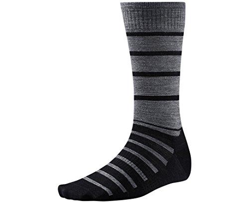 Smartwool Men's Divided Duo Crew Black Socks LG (Men's Shoe 9-11.5)
