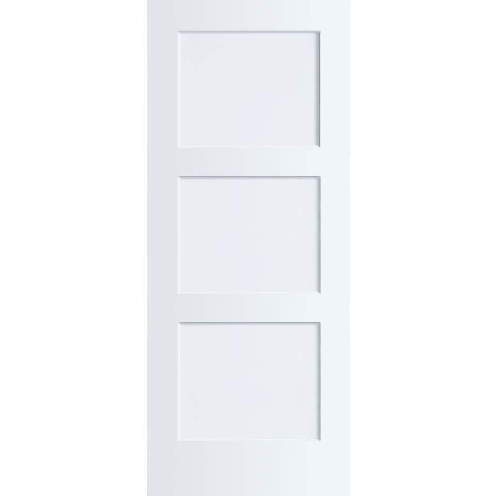 3-Panel Door, Kimberly Bay Interior Slab Shaker White (28x80)