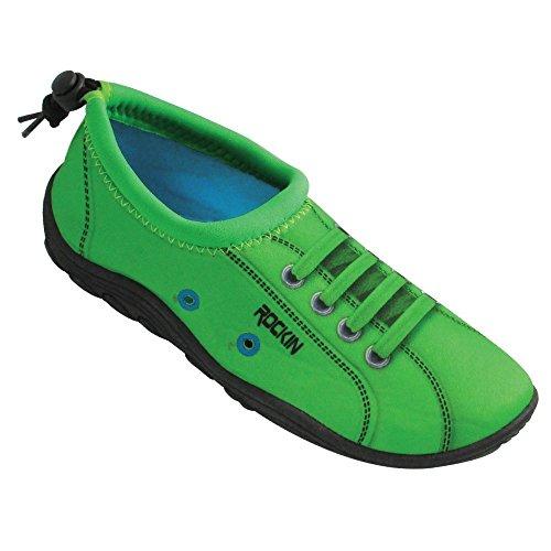 Rockin Chaussures Femmes Aqua Foot Sneaks Chaussures De Leau Vert