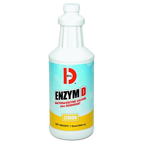 Big D BGD 500 32 oz Lemon Fragrance Enzym D Digester Deodorant Bottle (Case of -
