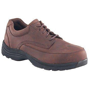 (Florsheim Mens Leather Composite Toe Casual Moc Toe Oxford # FE2140 (7.5 D(M)) Brown)