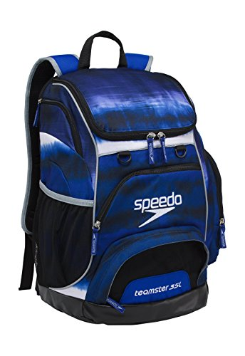 Speedo Large Teamster Backpack, Tie Dye Royal, 35 L