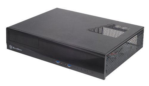 SilverStone Technology Milo Series Aluminum/Steel Micro-ATX Media Center/HTPC Case, Black ML03B-USA