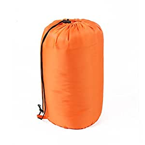 candora 300Mummy Saco de dormir, 3–4estaciones–Cinco Color professionalfor camping, senderismo, Exterior, capucha con cordón, cuello y bolsa de compresión Incluye, naranja