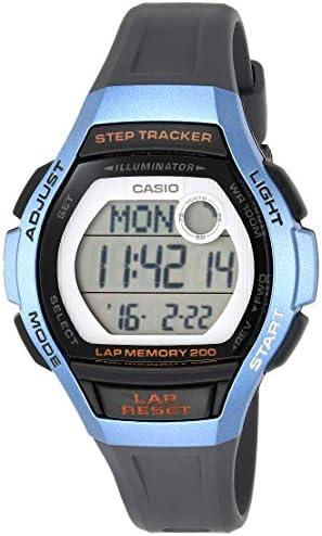 Casio Women's Runner Quartz Running Watch with Resin Strap, Black, 19.3 (Model: LWS-2000H-2AVCF)