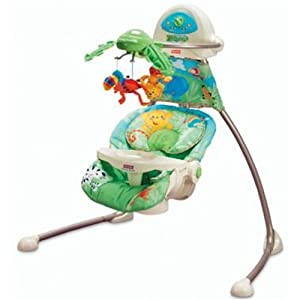 Fisher Price Open Top Rainforest Cradle Swing Amazon Co