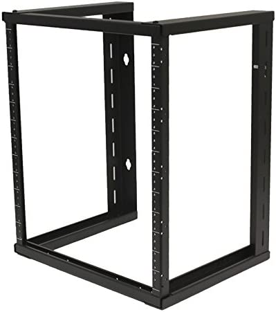 Amazon Com Navepoint 12u Wall Mount Open Frame 19 Inch Server Equipment Rack Threaded 16 Inch Depth Black Musical Instruments