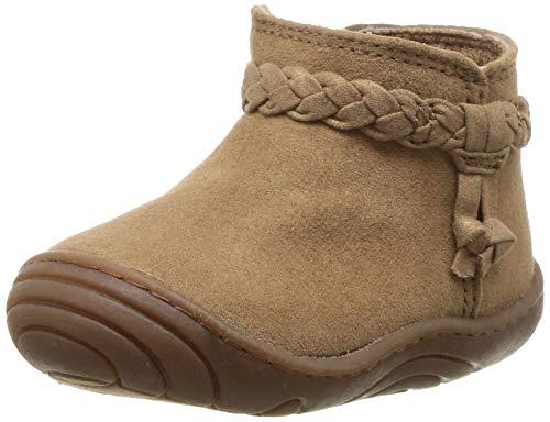 Stride Rite Girls' SR-Maddie Boot Fashion, Brown, 4.5 M US Toddler