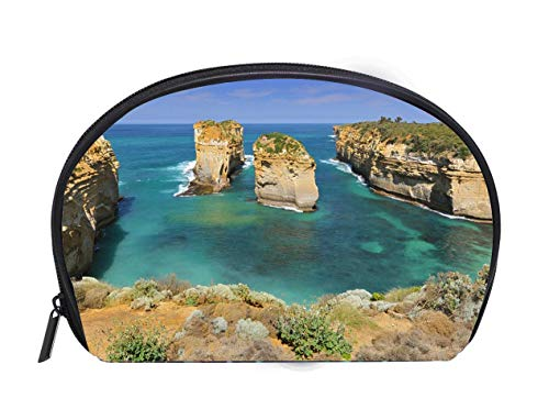 (Portable Toiletry Cosmetic Bag Australia Great Ocean Road Port Campbell National Park by the Great Ocean Road in Victoria Travel Cosmetic Case Luxury Makeup Artist Bag)
