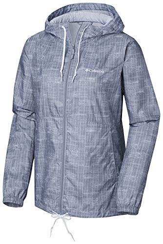 Columbia Women's Plus Size Flash Forward Printed Windbreaker, Tradewinds Grey Ikat, ()