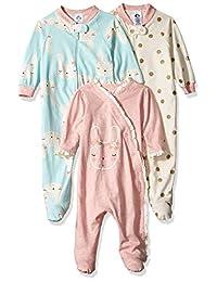 Gerber Baby-Girls 3-Pack Organic Sleep 'N Play Infant-and-Toddler-Bodysuit-Footies